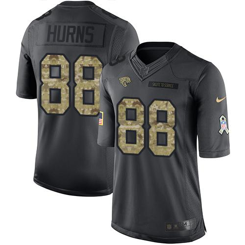 Nike Jaguars #88 Allen Hurns Black Men's Stitched NFL Limited 2016 Salute To Service Jersey