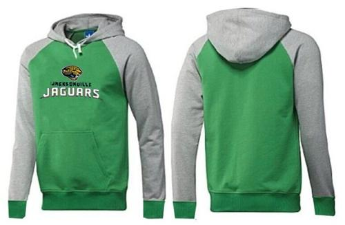 Jacksonville Jaguars Authentic Logo Pullover Hoodie Green & Grey