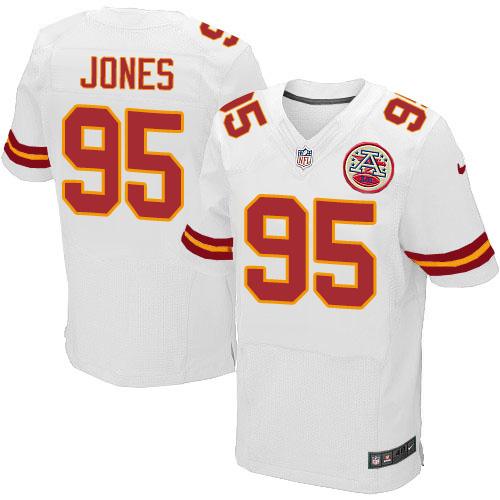 Nike Chiefs #95 Chris Jones White Men's Stitched NFL Elite Jersey