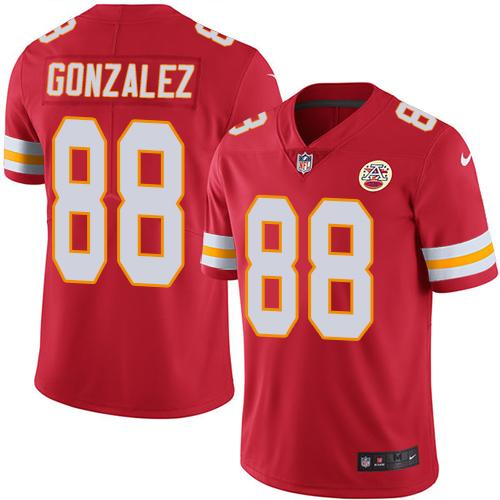 Nike Chiefs #88 Tony Gonzalez Red Men's Stitched NFL Limited Rush Jersey
