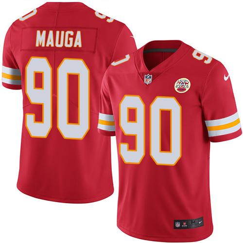 Nike Chiefs #90 Josh Mauga Red Men's Stitched NFL Limited Rush Jersey