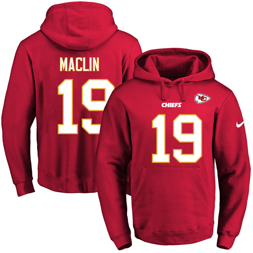 Nike Chiefs #19 Jeremy Maclin Red Name & Number Pullover NFL Hoodie
