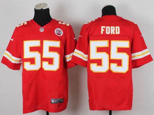 Nike Chiefs #55 Dee Ford Red Team Color Men's Stitched NFL Elite Jersey