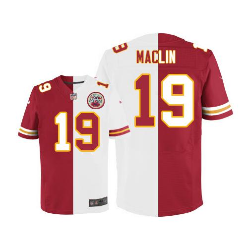 Nike Chiefs #19 Jeremy Maclin Red/White Men's Stitched NFL Elite Split Jersey