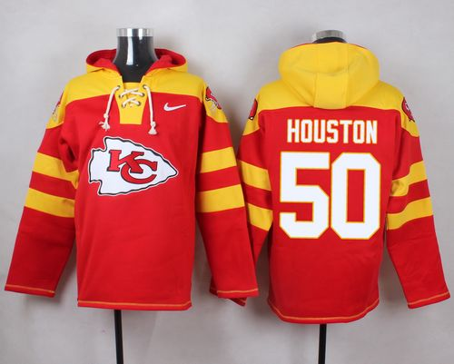 Nike Chiefs #50 Justin Houston Red Player Pullover NFL Hoodie