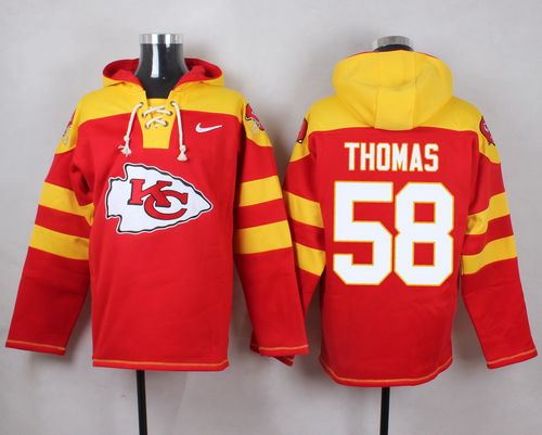 Nike Chiefs #58 Derrick Thomas Red Player Pullover NFL Hoodie