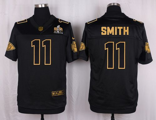 Nike Chiefs #11 Alex Smith Black Men's Stitched NFL Elite Pro Line Gold Collection Jersey