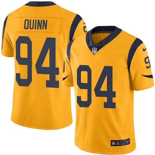 Nike Rams #94 Robert Quinn Gold Men's Stitched NFL Limited Rush Jersey