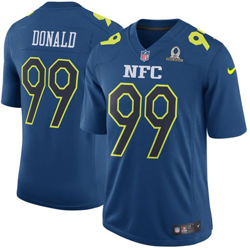 Nike Rams #99 Aaron Donald Navy Men's Stitched NFL Game NFC 2017 Pro Bowl Jersey