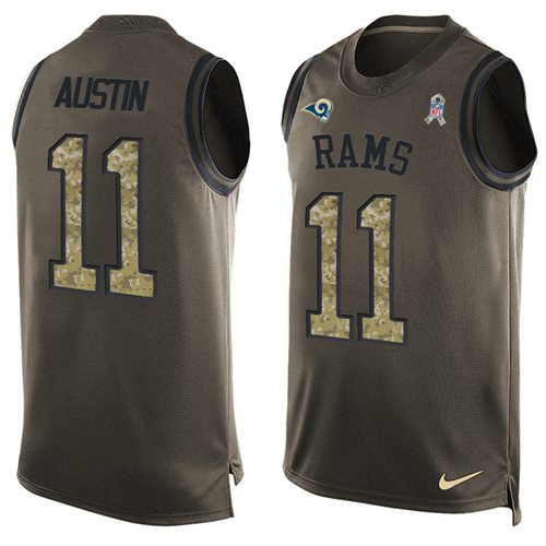 Nike Rams #11 Tavon Austin Green Men's Stitched NFL Limited Salute To Service Tank Top Jersey