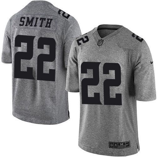 Nike Vikings #22 Harrison Smith Gray Men's Stitched NFL Limited Gridiron Gray Jersey