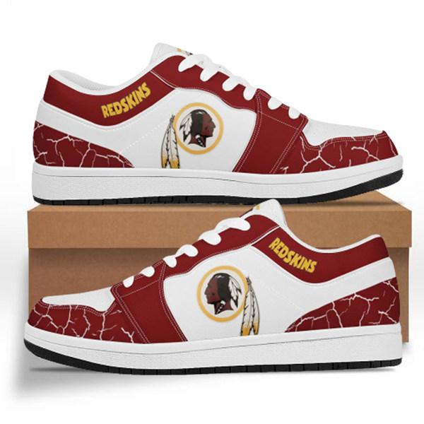 Men's Washington Redskins AJ Low Top Leather Sneakers 001