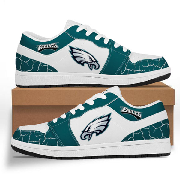 Men's Philadelphia Eagles AJ Low Top Leather Sneakers 001