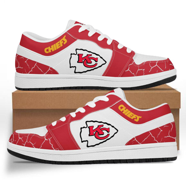 Men's Kansas City Chiefs AJ Low Top Leather Sneakers 001