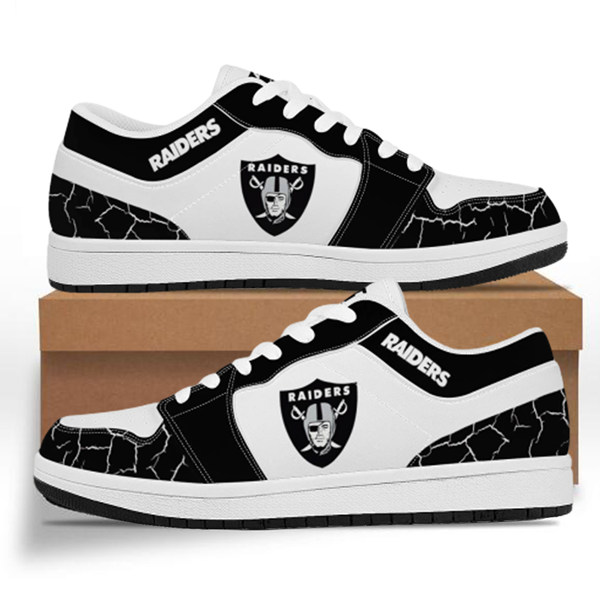 Men's Las Vegas Raiders AJ Low Top Leather Sneakers 001