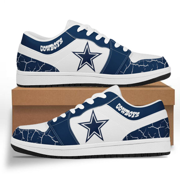 Men's Dallas Cowboys AJ Low Top Leather Sneakers 001