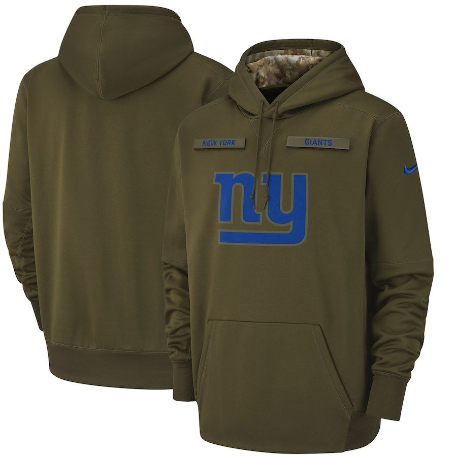 New York Performance: Men's New York Giants Olive Salute To Service Sideline