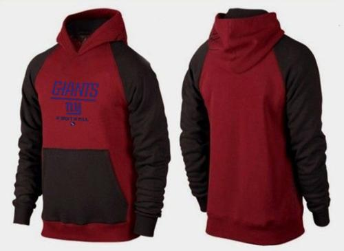 New York Giants Critical Victory Pullover Hoodie Burgundy Red & Black