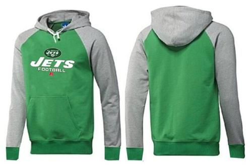 New York Jets Critical Victory Pullover Hoodie Green & Grey