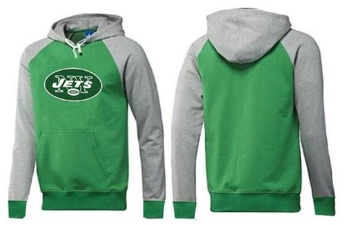 New York Jets Logo Pullover Hoodie Green & Grey