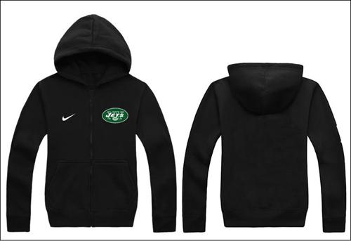 Nike New York Jets Authentic Logo Hoodie Black