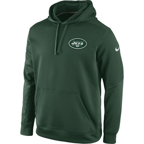 New York Jets Nike KO Chain Fleece Pullover Performance Hoodie Green