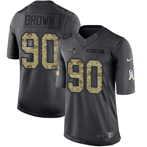 Nike Patriots #90 Malcom Brown Black Men's Stitched NFL Limited 2016 Salute To Service Jersey
