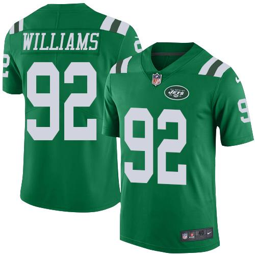 Nike Jets #92 Leonard Williams Green Men's Stitched NFL Elite Rush Jersey