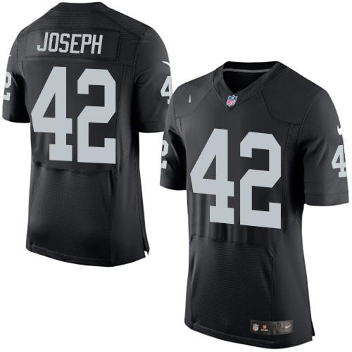 Nike Raiders #42 Karl Joseph Black Team Color Men's Stitched NFL New Elite Jersey