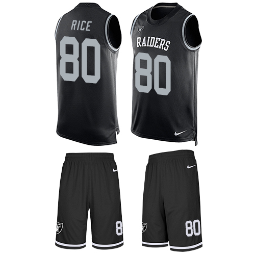 Nike Raiders #80 Jerry Rice Black Team Color Men's Stitched NFL Limited Tank Top Suit Jersey