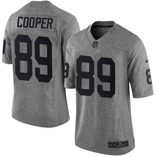 Nike Raiders #89 Amari Cooper Gray Men's Stitched NFL Limited Gridiron Gray Jersey
