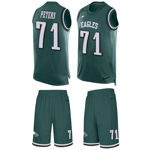 Nike Eagles #71 Jason Peters Midnight Green Team Color Men's Stitched NFL Limited Tank Top Suit Jersey