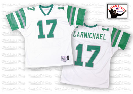 Mitchell And Ness Eagles #17 Harold Carmichael White Stitched Throwback NFL Jersey