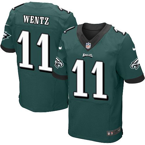 Nike Eagles #11 Carson Wentz Midnight Green Team Color Men's Stitched NFL New Elite Jersey