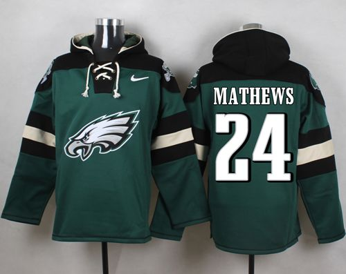 Nike Eagles #24 Ryan Mathews Midnight Green Player Pullover NFL Hoodie