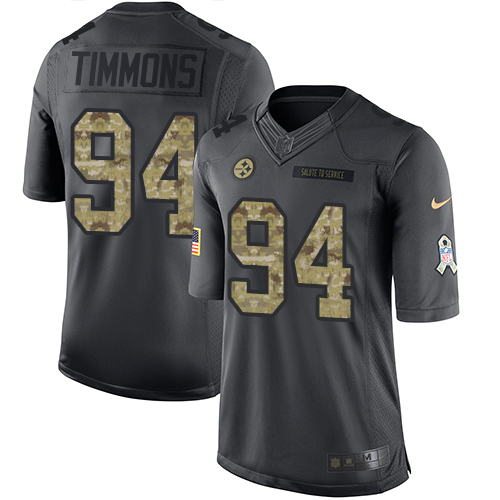 Nike Steelers #94 Lawrence Timmons Black Men's Stitched NFL Limited 2016 Salute to Service Jersey