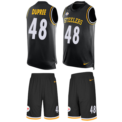 Nike Steelers #48 Bud Dupree Black Team Color Men's Stitched NFL Limited Tank Top Suit Jersey