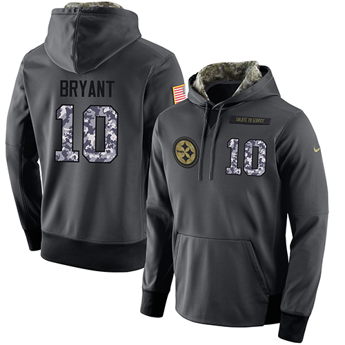 NFL Men's Nike Pittsburgh Steelers #10 Martavis Bryant Stitched Black Anthracite Salute to Service Player Performance Hoodie