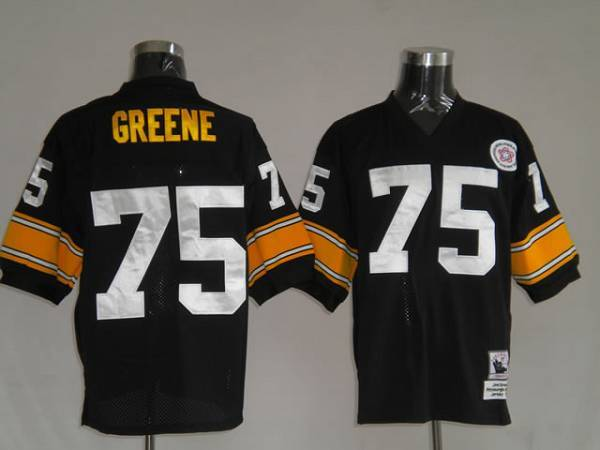 Mitchell & Ness Steelers #75 Joe Greene Black Stitched Throwback NFL Jersey