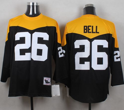 Mitchell And Ness 1967 Steelers #26 Le'Veon Bell Black/Yelllow Throwback Men's Stitched NFL Jersey
