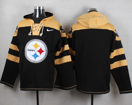 Nike Steelers Blank Black Player Pullover NFL Hoodie