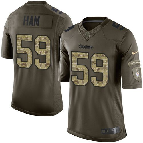 Nike Steelers #59 Jack Ham Green Men's Stitched NFL Limited Salute to Service Jersey