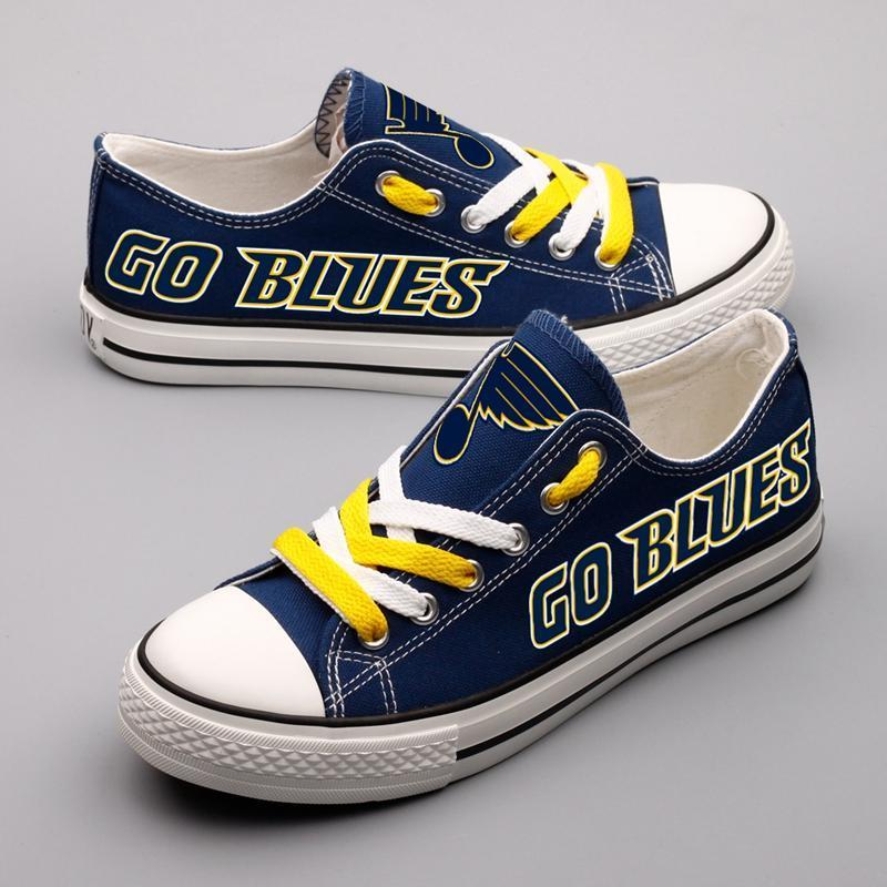 Women and Youth NHL St. Louis Blues Repeat Print Low Top Sneakers