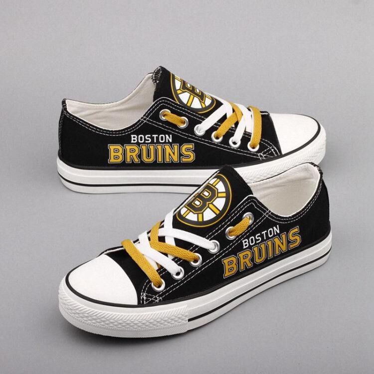 Women and Youth NHL Boston Bruins Repeat Print Low Top Sneakers