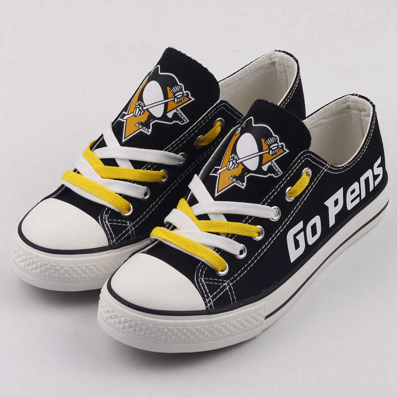 All Sizes NHL Pittsburgh Penguins Repeat Print Low Top Sneakers