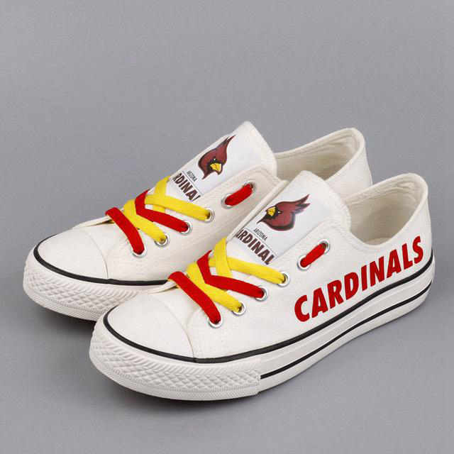 Women and Youth NFL Arizona Cardinals Repeat Print Low Top Sneakers 002