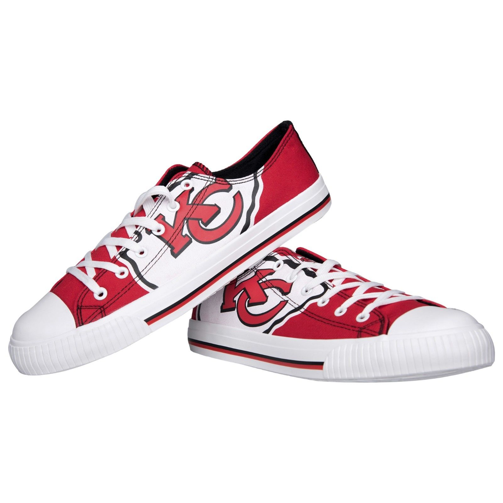 Women and Youth NFL Kansas City Chiefs Repeat Print Low Top Sneakers