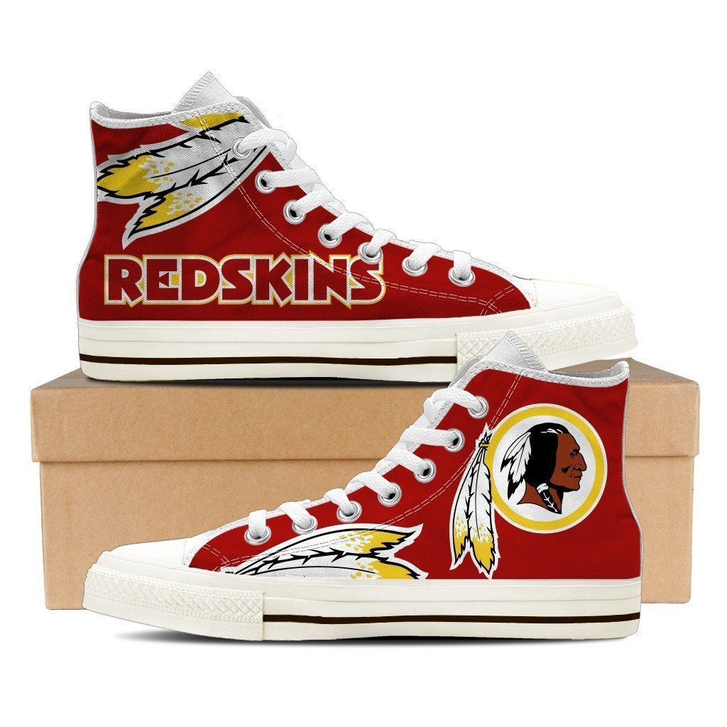 All Sizes NFL Washington Redskins Repeat Print High Top Sneakers