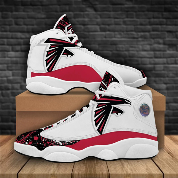 Men's Atlanta Falcons AJ13 Series High Top Leather Sneakers 004