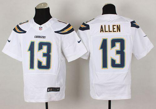 Nike Chargers #13 Keenan Allen White Men's Stitched NFL New Elite Jersey